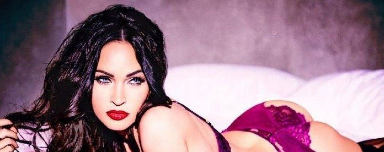 Эффектное возвращение: Меган Фокс в сексуальном белье блеснула стройной фигурой