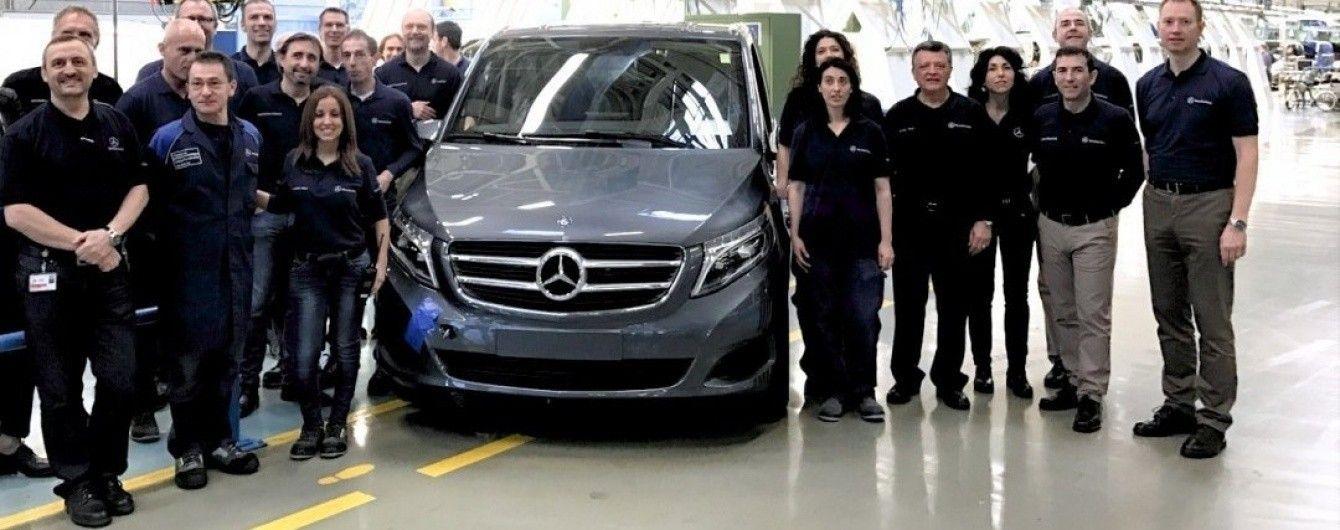 В Испании с конвейера сошел 100-тысячный минивэн Mercedes-Benz V-Class