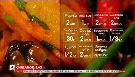 Вегетаріанський салат із моркви та апельсина - рецепти Насирова