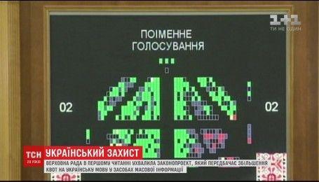 Верховная Рада приняла законопроект об увеличении квот на украинский язык в СМИ