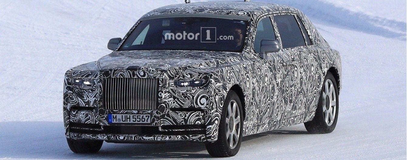 Rolls-Royce тестирует удлиненную версию нового Phantom