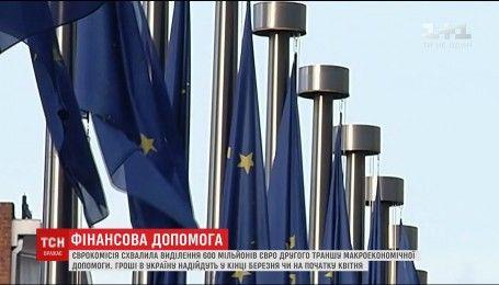 Європа виділяє Україні черговий кредит в 600 мільйонів євро