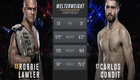 UFC. Роббі Лоулер - Карлос Кондіт. Відео бою