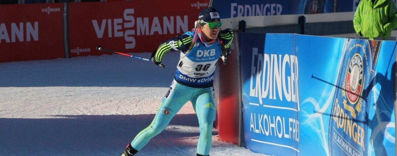 Українська біатлоністка Джима фінішувала на 11 місці в пасьюті на Кубку світу в Холменколлені