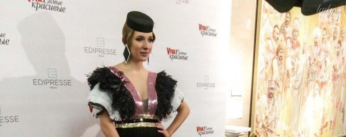 Первый светский выход после родов: Катя Осадчая подчеркнула фигуру элегантным платьем