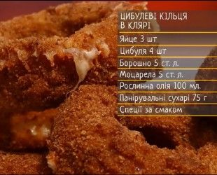 Луковые кольца в кляре - рецепты Сеничкина