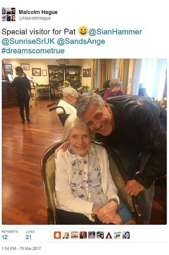 Джордж Клуні з фанаткою