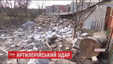 Боевики выпустили десятки снарядов в мирный поселок Верхнее Зайцево
