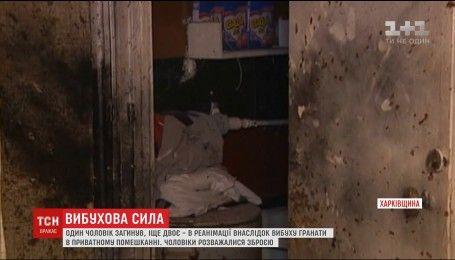 На Харьковщине взорвалась граната, которой выпивший мужчина решил похвастаться перед знакомыми