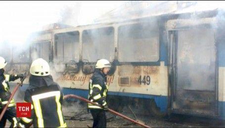 У Запоріжжі загорівся трамвай із пасажирами