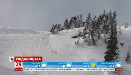У горах Закарпаття та Івано-Франківщини 3-й рівень лавинної небезпеки