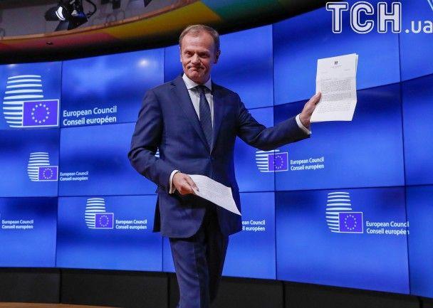 """""""Мы уже скучаем за вами"""". Туск получил письмо от Мэй о намерении Британии выйти из ЕС"""