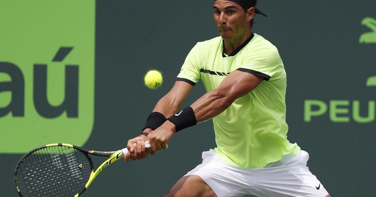 Федерер оформив 26-ту перемогу на Мастерсі в Маямі в фінальному поєдинку з Надалем. @ Reuters