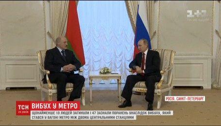 Путін відреагував на вибух у петербурзькому метро