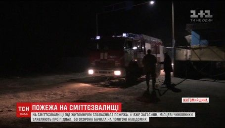 Городские власти Житомира утверждает, что поджог свалки мог быть умышленным