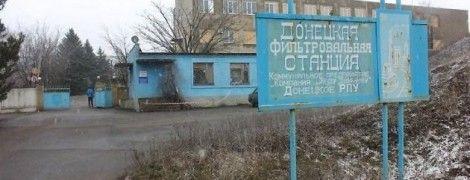 Боевики пытались вывести из строя камеру видеонаблюдения на Донецкой фильтровальной станции