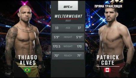 UFC. Тіаго Алвес - Патрік Коут. Відео бою
