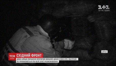 Під інтенсивними обстрілами бойовиків на Сході поранено двоє українських бійців