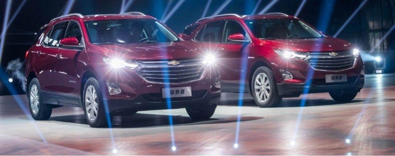 На китайский рынок выходит новый вседорожник Chevrolet Equinox