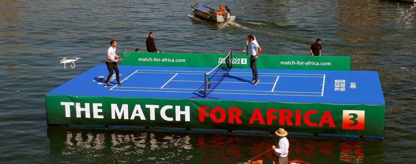 Федерер и Маррей сыграли в теннис на воде