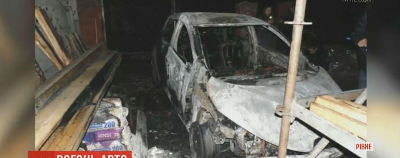 В Ровно сгорел электрокар первого заместителя главы местной обладминистрации