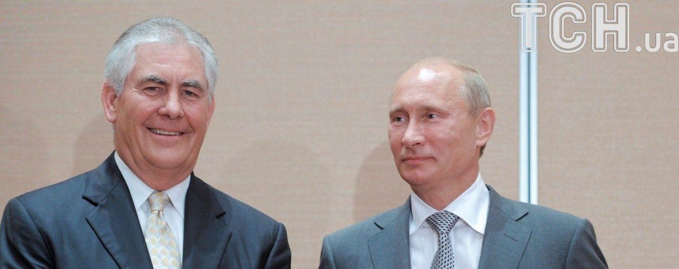 В Кремле проходит встреча Путина и Тиллерсона