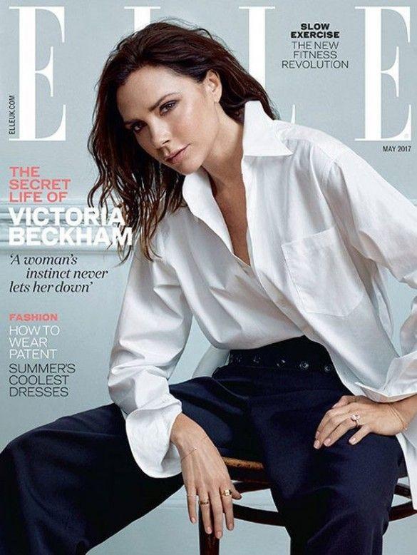 Виктория Бекхэм в фотосете для Elle_1