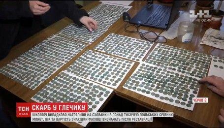 Чернігівські учні випадково відкопали схованку з понад тисячею срібних монет