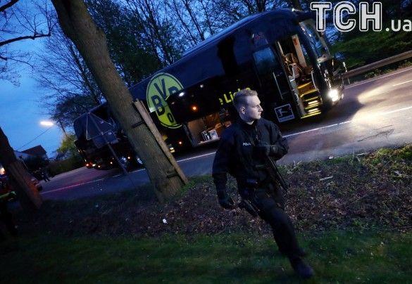 Автобус Боруссії після вибуху