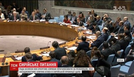 Совет безопасности ООН будет голосовать за резолюцию в связи с химической атакой в Сирии