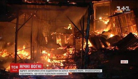 Полсотни спасателей тушили пожар, охвативший полтысячи квадратных метров в Одессе