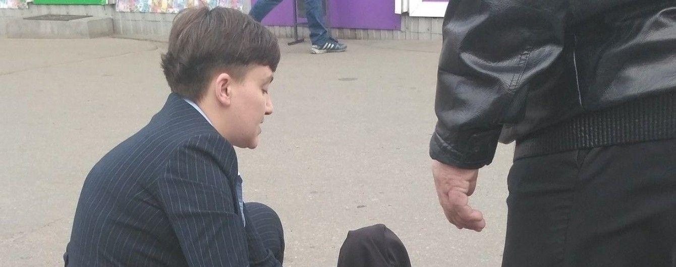 """Нардеп Савченко після наїзду машиною побіцяла бабусі капусту і """"заморозку"""""""