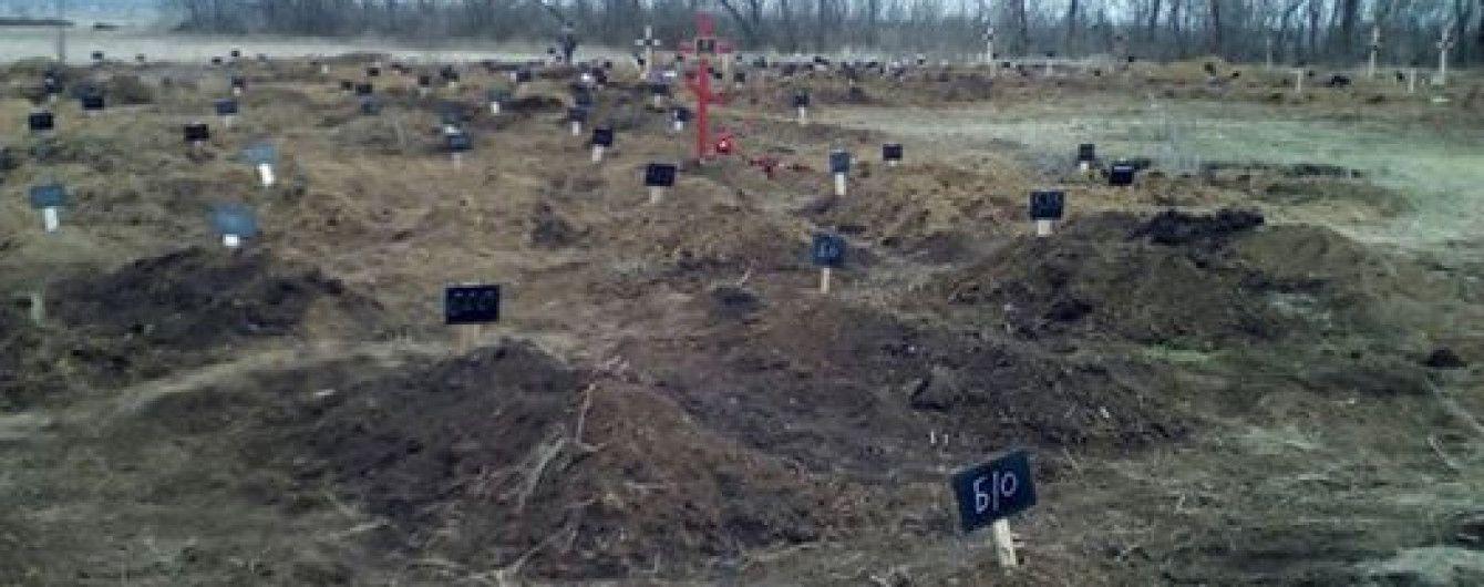 Під Донецьком з'явилося 83 безіменні могили - Бірюков