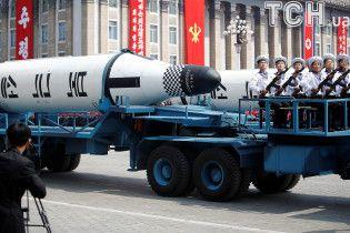 Військовий парад: КНДР вперше показала балістичні ракети підводних човнів