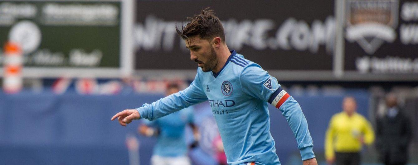 Знаменитый испанец Вилья забил шедевральный гол с центра поля в МЛС