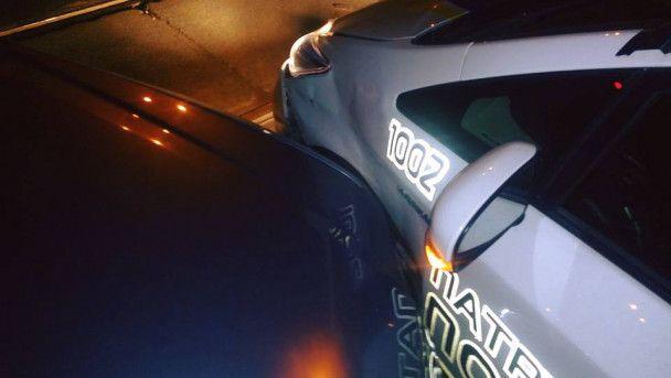 П'яний як чіп водій врізався в поліцейське авто