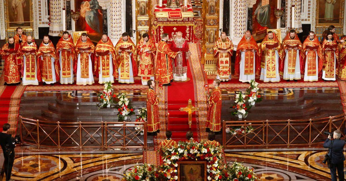 Патріарх Кирил, храм Христа Спасителя у Москві, Росія