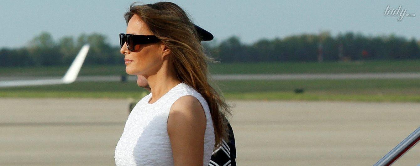 В красивом платье и коралловых лодочках: образ Мелании Трамп к празднику Пасхе