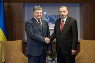 Порошенко призвал Эрдогана не признавать российские выборы в Крыму