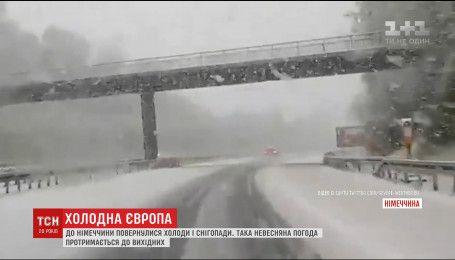 В Европу вернулись холод и снег