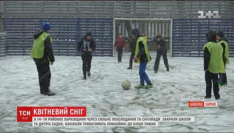На Харківщину південний циклон приніс сніг з дощем