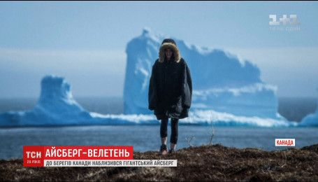 В Сети набирают популярность впечатляющие фотографии огромного айсберга в Канаде