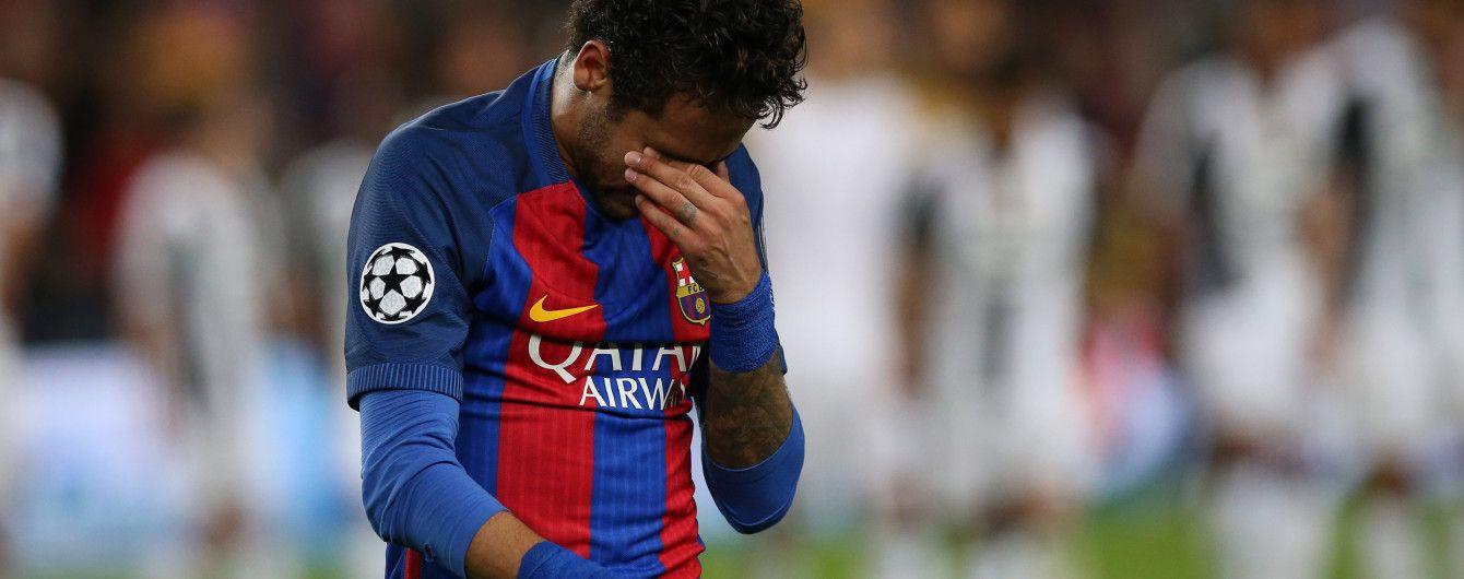 """Неймар розплакався на полі після вильоту """"Барселони"""" з Ліги чемпіонів"""