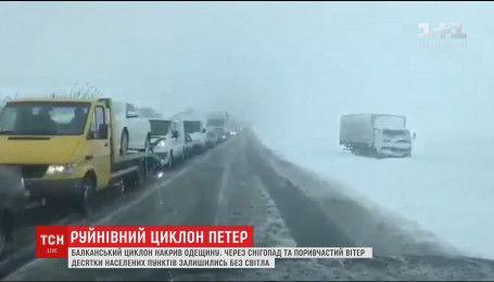 На Одещині через негоду скасували заняття у школах та закрили кілька автовокзалів