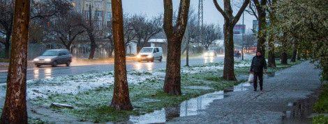 В Україні йтиме мокрий сніг із дощем. Прогноз погоди на вівторок