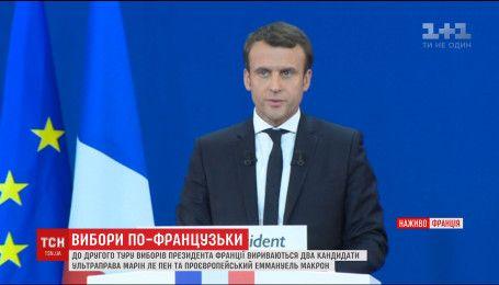 Макрон лідирує у президентських перегонах у Франції