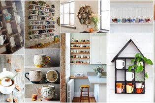 7 стильных способов организовать и показать ваши чашки