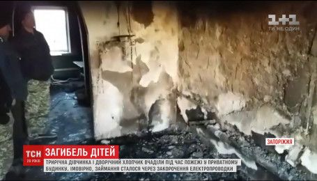 Двоє малюків загинули від чадного газу під час пожежі на Запоріжжі