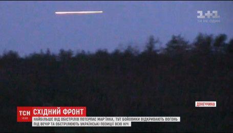 Бойовики кілька годин провокували українських військових щільними обстрілами по Мар'їнці