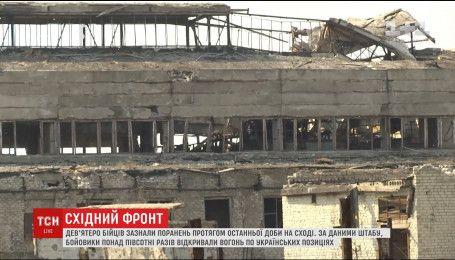 Дев'ять українських військових зазнали поранень за останню добу